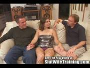 Husband Joey wants hotwife Dana to get a double dicking cumshot