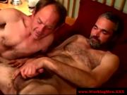 Gaysex hairy biker sucks dick