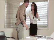 Lucky guy gets to be seduces by hot officemate Alexa in to fucking her