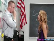 Schoolgirl fucks teacher