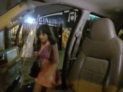 Slutty teen Gia Paige fuck in the car on a rainy night