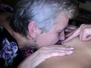 OldNanny Lesbian granny and nice woman masturbating together, water games