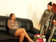 Lesbian euros pissing while pussylicking