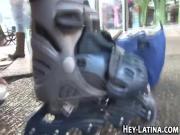Shy latina amateur fucked