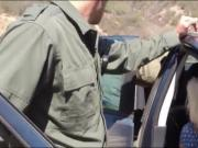 Blond babe nailed by border patrol agent at the border