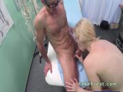 Doctor licks and fucks natural blonde