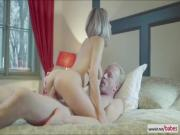 Horny czech slut gets naughty for one hot fuck prior dinner