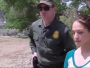 Sweetie pounded by border patrol agent at countrys border