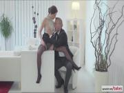 Naughty Antonia Sainz gets her tight ass stroke with huge cock