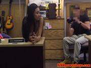 Pawnshop teen amateur showing ass off