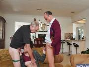 Christine double team by two horny old farts
