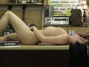 Slutty Kallie Joe in an intends hardcore sex in the pawnshop