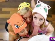 Sexy Pokemon babes caught and fucked by a huge dick