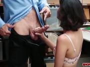 Petite shoplifter Penelope Reed pays for sex