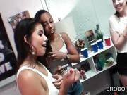 Sex games at college dorm room orgy party