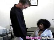 Ebony hottie fucking riding hairy pussy interracial