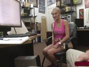 Lucky babe Sadie Leigh in a hot threesome in the office