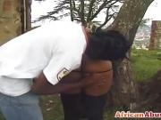 Sexy African chick fucked from behind
