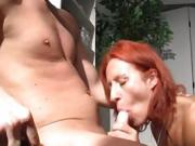 Letting the redhead take control of your cock is almost a mistake
