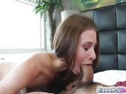 Petite slut Anya Olsen takes giant cock in her pussy