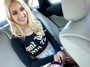 Petite blonde rebel Uma Jolie fucked inside the car