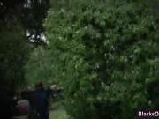 Threesome female cops blowjob fucking interracial