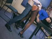 Simone Garza slurping on Danny Ds huge cock