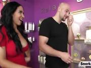 Tanning Salon Blonde Molly Mae Fucking Big Dick