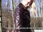 Big cash for an intense fuck in the forest with Nikky Dream